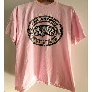 Other - Spurs Men's sz L Pink 100% Cotton T-shirt